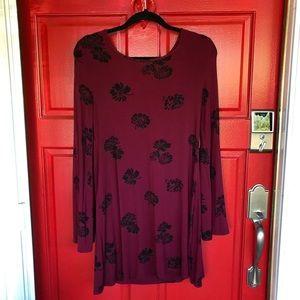 Forever 21 Floral Long Sleeve Dress